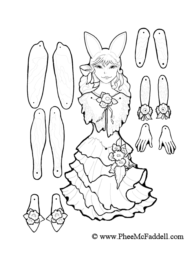 March Fairy Puppet to Color Cut Out Assemble Wings