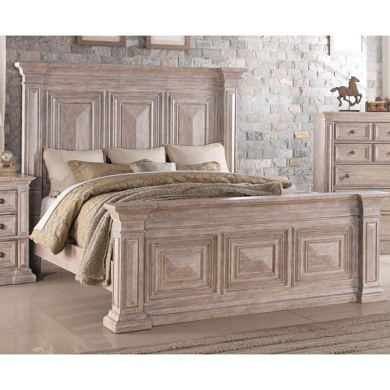 Rustic Traditional Cream Queen Bed - Santa Fe | Home decor ...