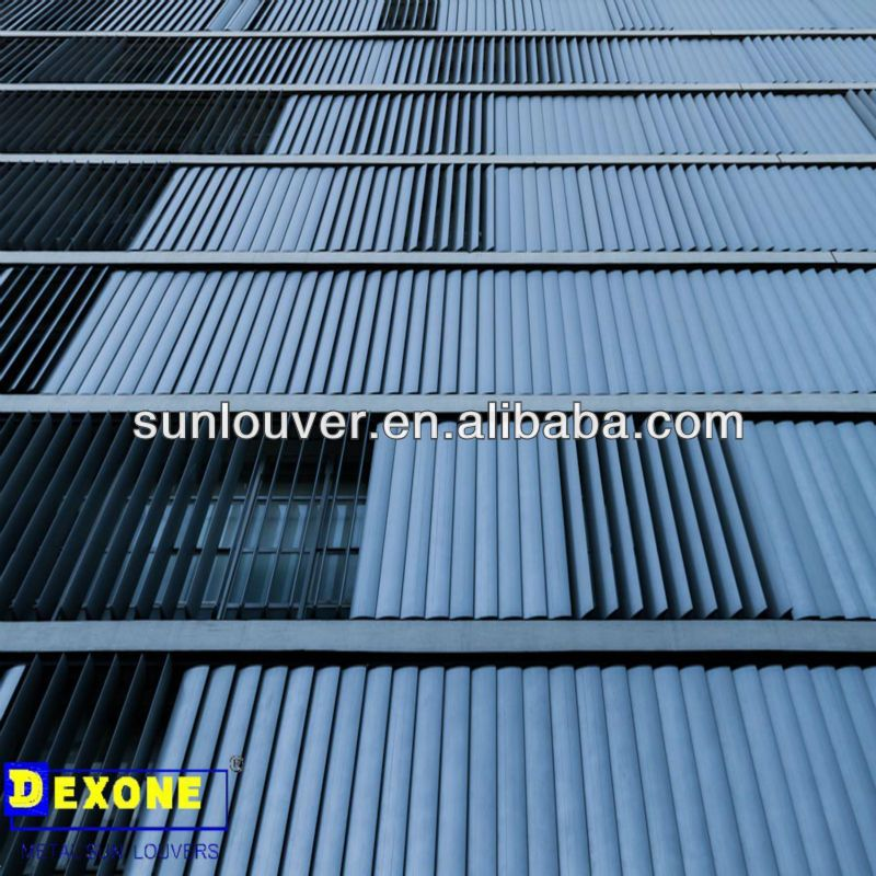 Aluminum louver aerofoil movable exterior vertical for Movable exterior walls