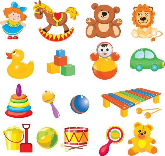 Cartoon Baby Toys Clip Art Digital Clip Art By Brunostore Toy Clip Baby Clip Art Clip Art