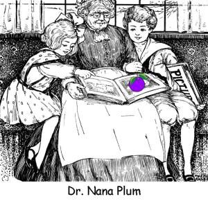 Dr Nana Plum: I love to write in childish rhyme, I really do it all the time ~ a doctor and a nana too, 'tis on the plum tree that I grew!