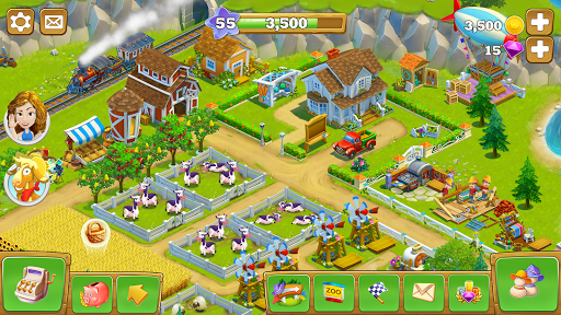Golden Farm Idle Farming Game 1 31 28 Apk Mod Obb Android Download Farm Games Golden Farm Games