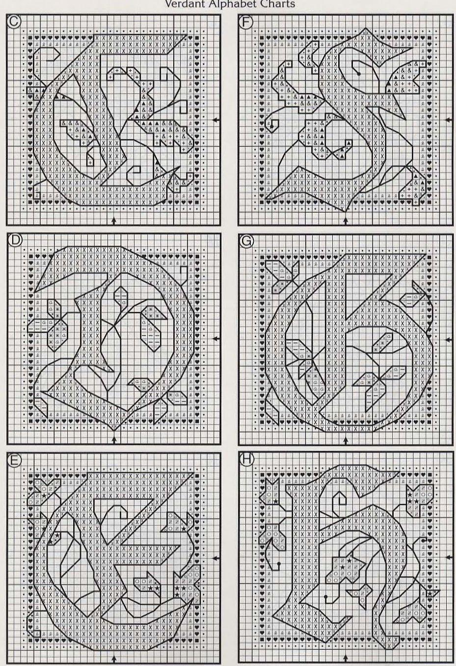 celtic Verdant alphabet 2 | XS | Pinterest | Abecedario punto de ...