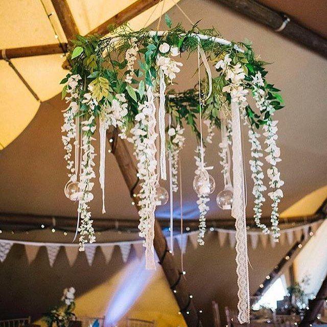 Hula Hoop Wedding Decor