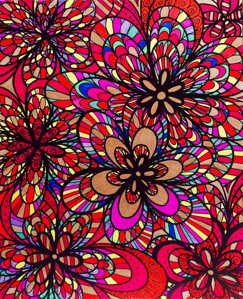 ColorIt Calming Doodles Volume 1 Colorist Jan Long Adultcoloring Coloringforadults Doodle Coloringpages