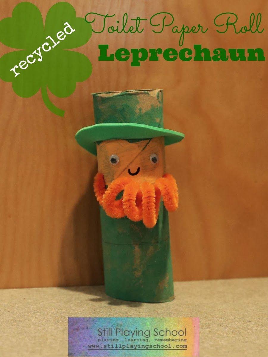 Toilet Paper Roll Leprechaun St Patricks Day Crafts For Kids
