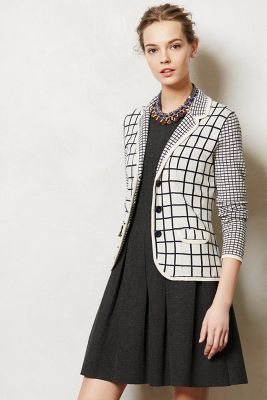 Windowpane sweater jacket, was $128 now $49 at Anthropologie (lots of new markdowns, apparently)
