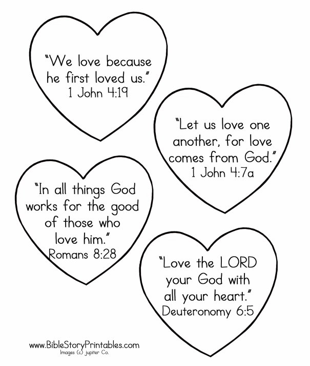 Valentine\'s Day Bible Coloring Pages | Valentine\'s Day | Pinterest ...