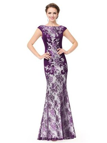 404b6830b3dc CHARLOTTE Purple Silver Evening Dress | Wedding ideas | Long gown ...