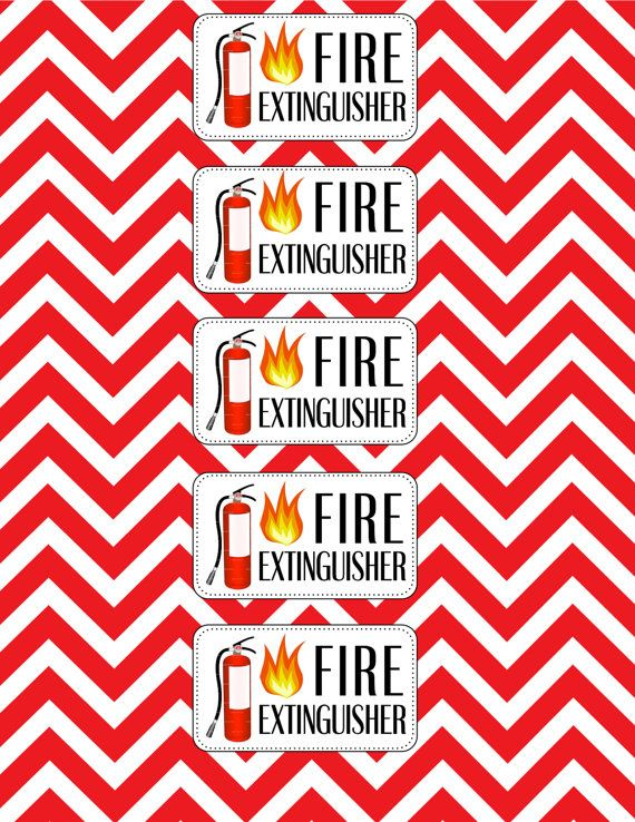 Firefighter Birthday Water Bottle Labels by AshleysPartyPretties - water bottle label template
