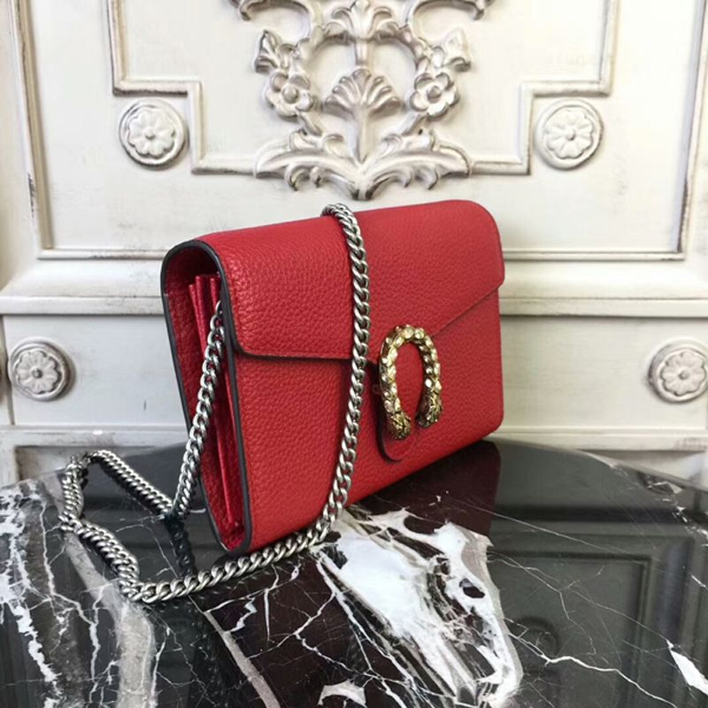 ed4f0359416 Gucci Dionysus Leather Mini Chain Bag 401231 Red