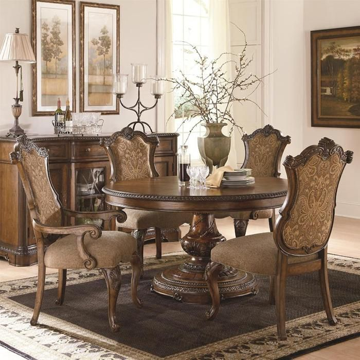 Pemberleigh 5 Piece Dining Set In Burnished Brandy Nebraska Furniture Mart