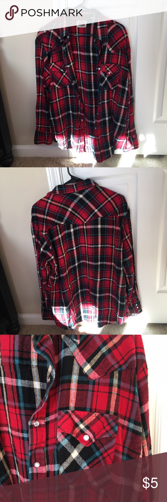 Woman's Flannel In perfect condition Tops Button Down Shirts