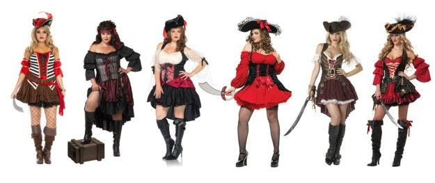 Plus size sexy pirate costume