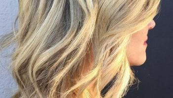 Textured and Natural Beachy Blonde Highlights