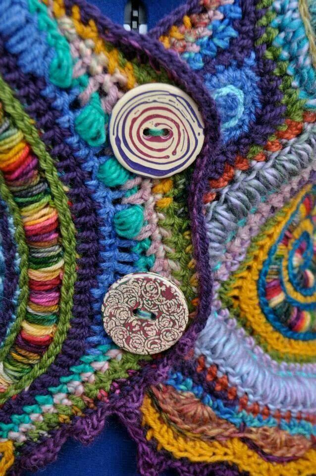 Loving this | Freeform crochet, Crochet, Creative knitting