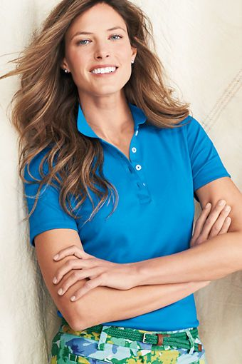 0f116dfb Women's Short Sleeve Pima Polo Shirt from Lands' End | Ng 100 Polo ...