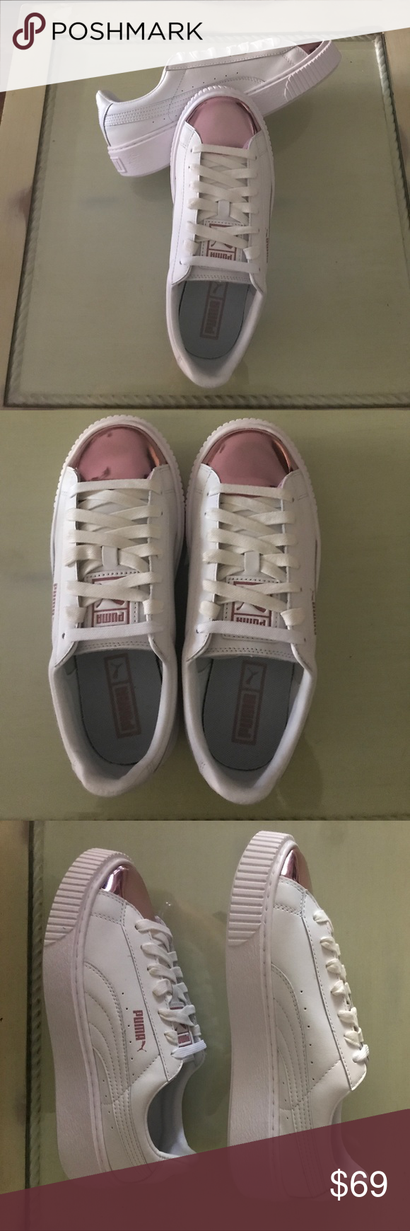 Basket With Puma Color Rose Platform Metallic White Sneaker 5wqpXw