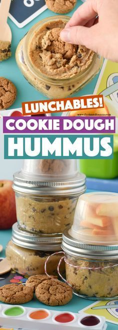 Cookie Dough Hummus Lunchables #desserthummus