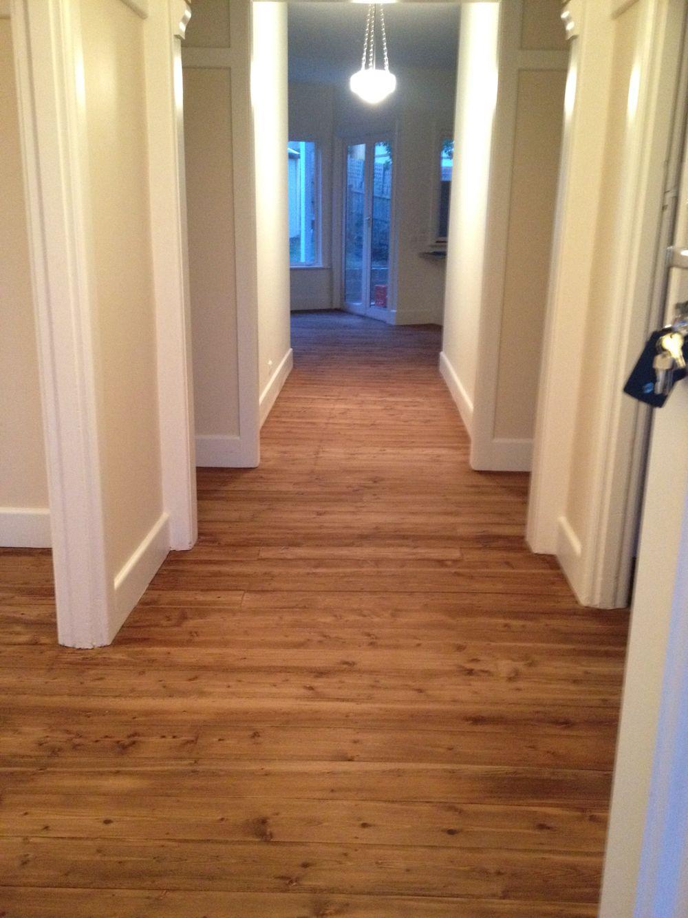 Walnut Stain Pine Floor Boards