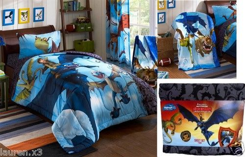6pc how to train your dragon comforter blanket twin sheets 5pc set how to train your dragon comforter micro throw blanket twin sheets ebay ccuart Gallery