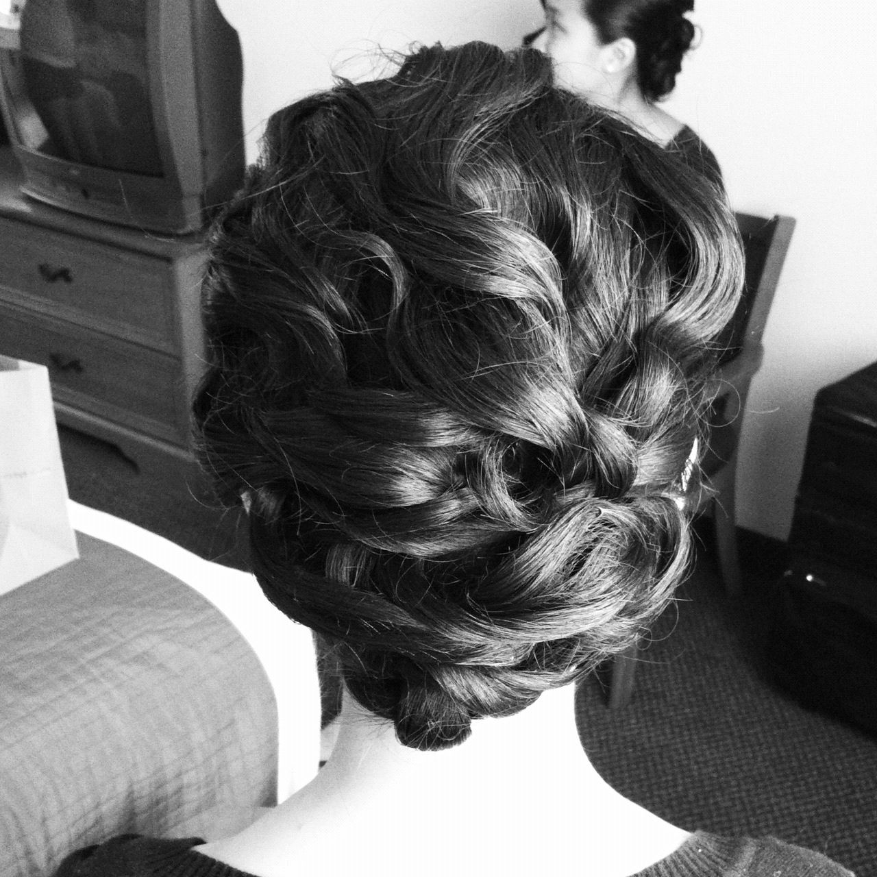 Prom hair hairrr pinterest shoulder length updo shoulder