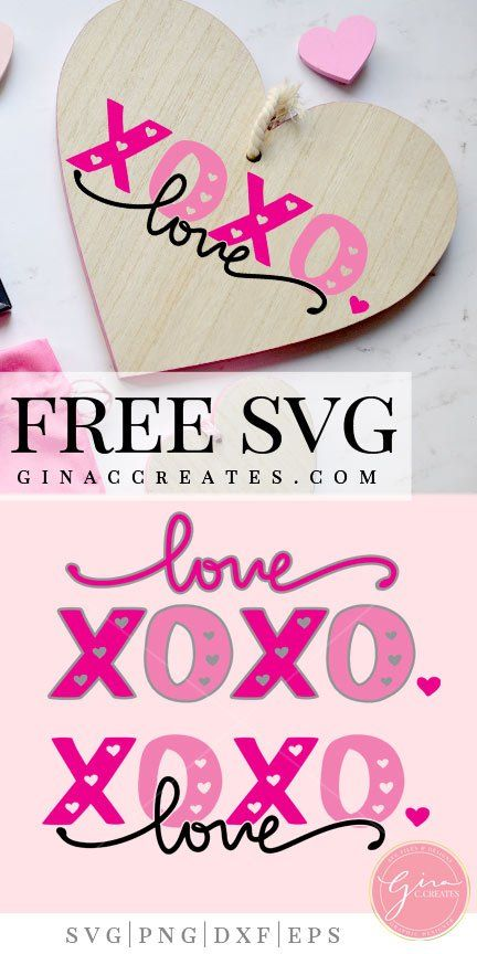 XOXO Love Valentine's Day | Cricut ideas projects | Free svg