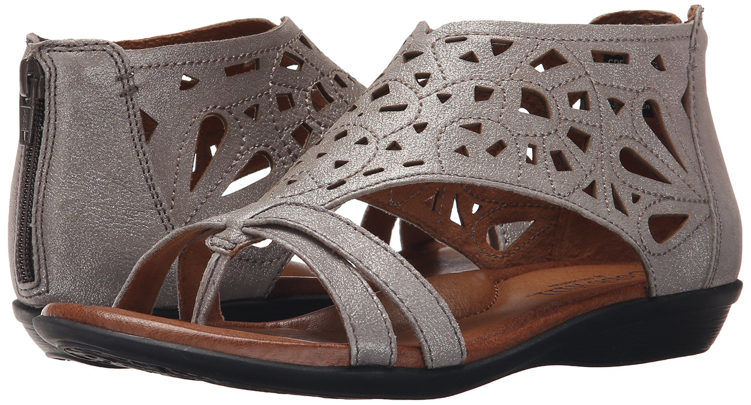 4b4eb9a55627 Cobb Hill Rockport Womens JordanCH Flat Sandal Pewter 10 M US     Read more  at the image link.(It is Amazon affiliate link)  WomenSandalsIdeas