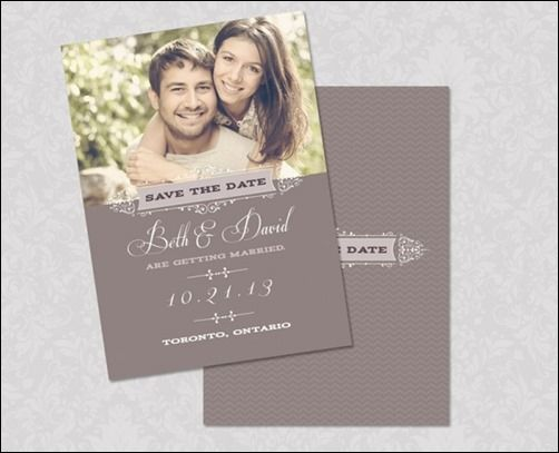save the date psd template thumb 30 Beautiful Save the Date ...
