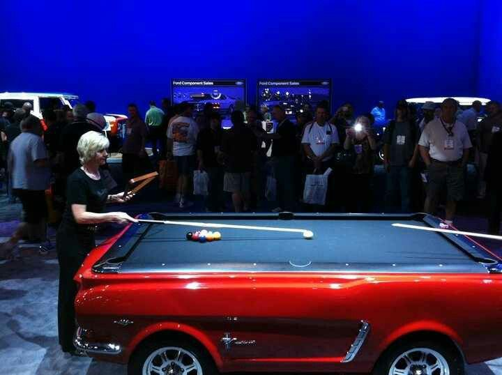 Use to be a Car..... Now it's a Pool Table...Amazing.....Sema Show