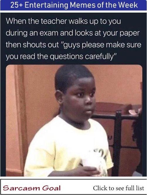 25 Entertaining Memes Of The Week Funny School Memes Really Funny Memes Stupid Memes