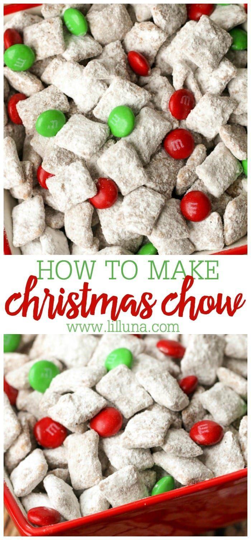 Christmas Chow Recipe In 2020 Christmas Snacks Puppy Chow Recipes Homemade Chocolate Truffles
