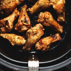 Keto Air Fryer Chicken Wings with 3 Sauces