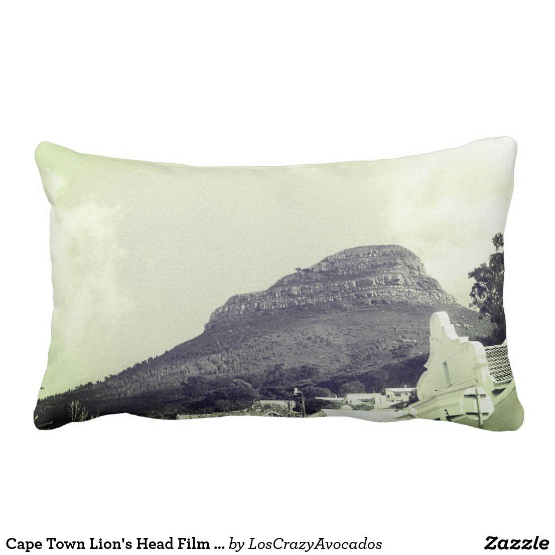 Cape Town Lion S Head Film Photo Throw Pillow Zazzle Com Pillows Cushions Throw Pillows Pillows Cape
