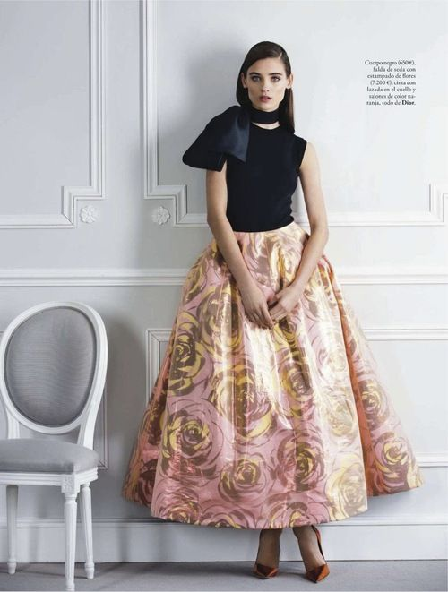 Carolina Thaler in Christian Dior, Spring 2013 photographed by Pascal Chevallier for Elle Spain, February 2013
