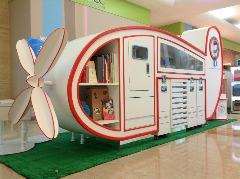 Kids Exhibition Booth : Our airplane booth that is designed and built in house by