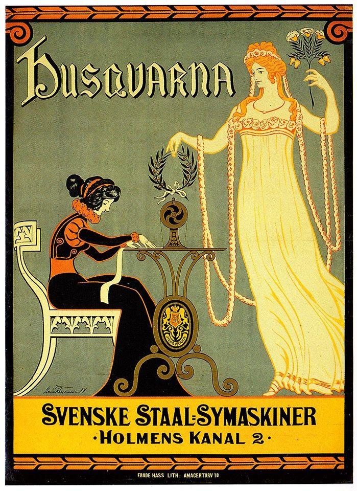 Husquarna Symaskine 1905 Pintores Cartelistas