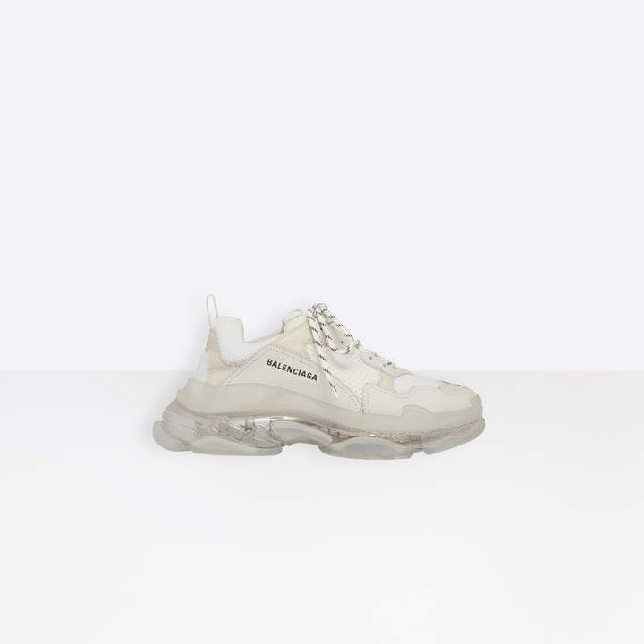 Balenciaga Oversized multimaterial sneakers with air bubble
