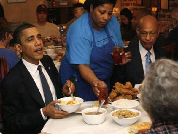 The food at Mrs Wilkes was good enough for President Barack Obama