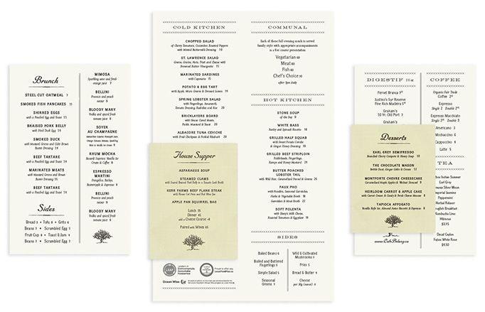 cafe belong menu designed by chad roberts menu design typography - Menu Design Ideas