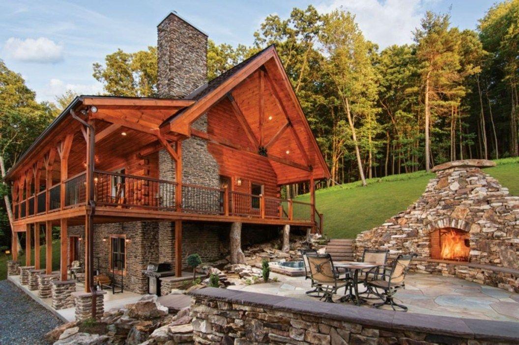 49 Beautiful Log Home Ideas To Inspire You Matchness Com Timber House Log Cabin Homes Log Homes Exterior