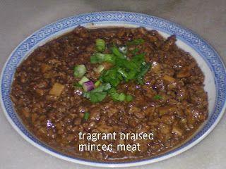 Fragrant Braised Minced Meat & Mushrooms #Malaysian # ...