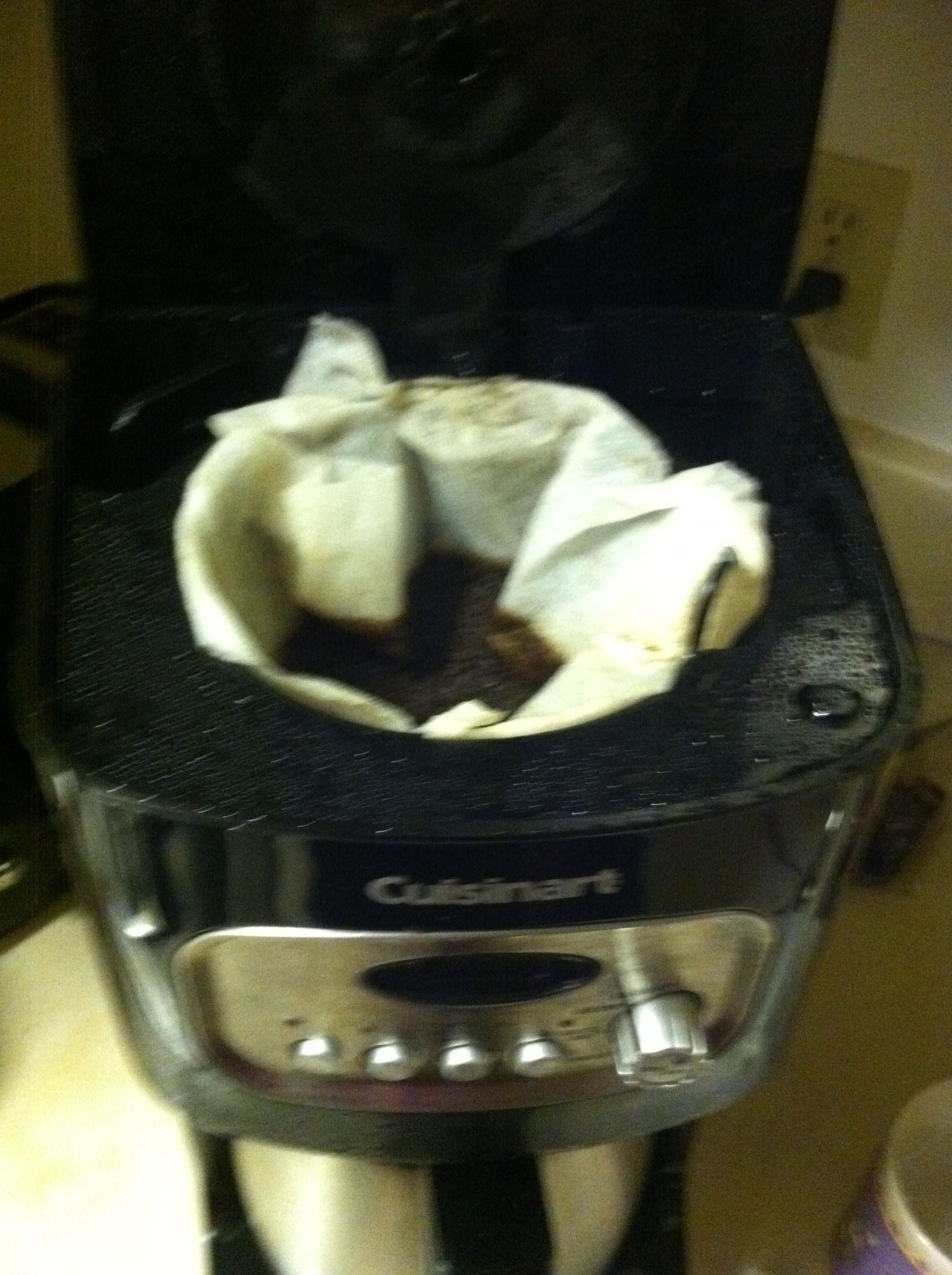 bounty paper towel as coffee filter