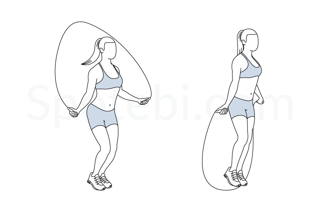 Jump Rope Illustrated Exercise Guide Jump Rope Workout Workout Guide Jump Rope