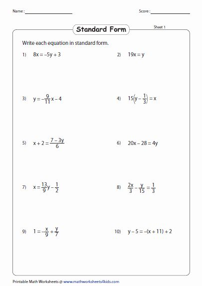 Linear Equations Worksheet Pdf Best Of Linear Equation Of ...