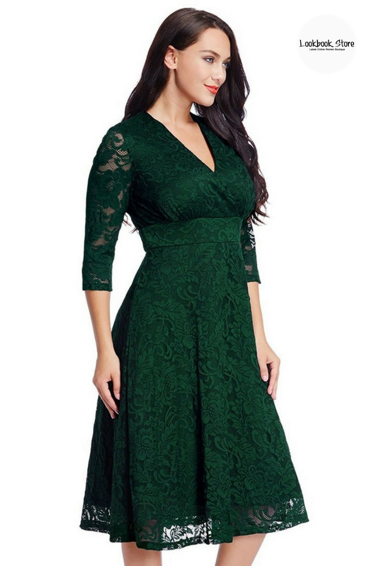 49cde5d959d LBS Amazon    Attending wedding this spring but don t have any idea what to  wear  This green lace dress is absolutely perfect. Shop it here.