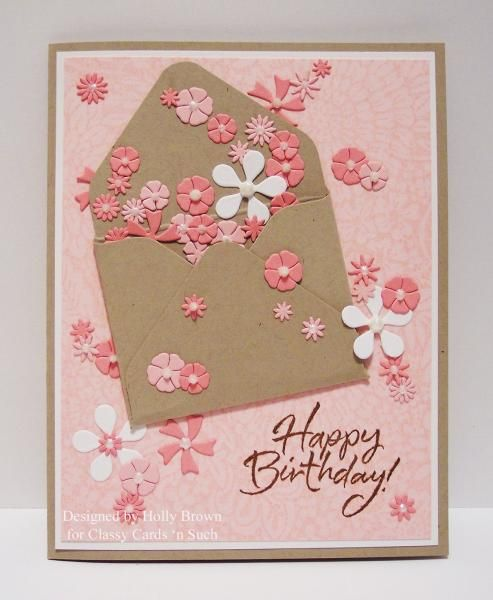 Envelope of Flowers by ClassyCards - Cards and Paper Crafts at Splitcoaststampers