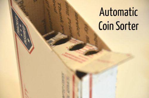 Homemade Cardboard Automatic Coin Change Sorter ...