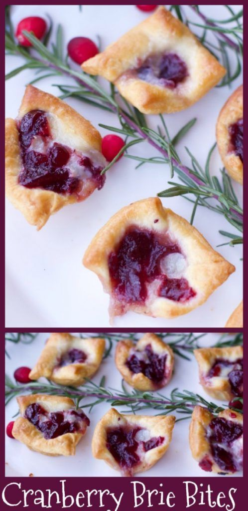 3 Ingredient Appetizers for a Crowd (Cranberry Brie Bites)