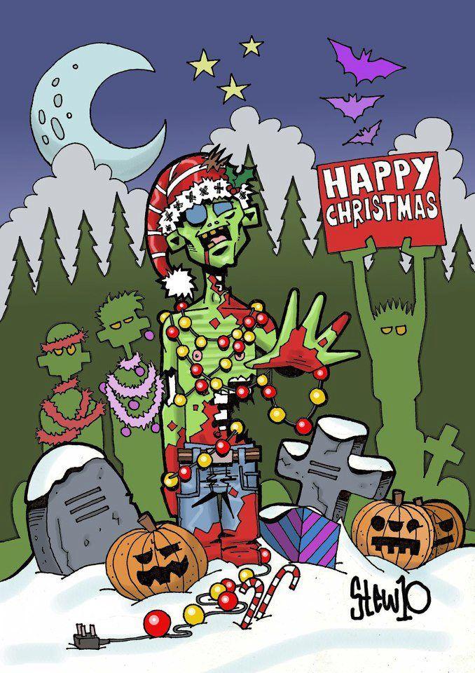 Zombie Xmas Card From Vegas Zombie Christmas Scary Christmas